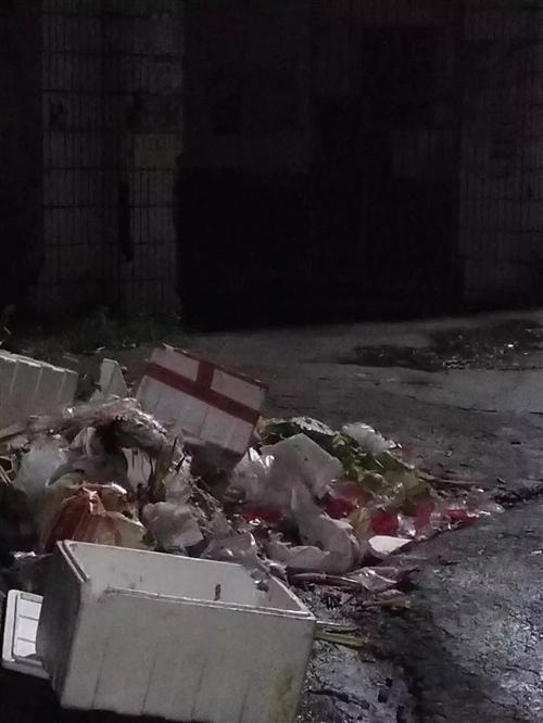 新宁回龙某超市垃圾堆路边成山/丰田乡山沟里的垃圾天天烧