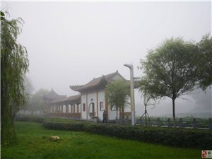 大美桦南――-晨雾弥漫桦西湖公园