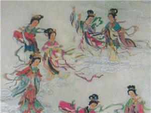 画张仙女贴中国