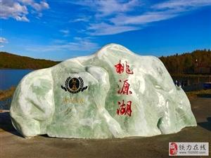 邹显芳老师精彩书法一一桃源湖风景区标志玉石(桃山玉),在桃源湖畔正式落
