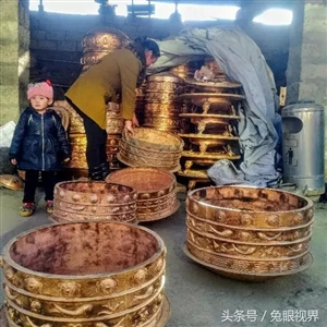 岷县有个清水村!500年老手艺铸造大铜锅,藏族最爱!