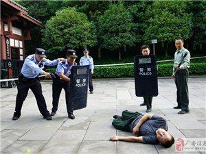 协兴警方举行反恐防暴实战演练