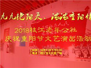 """2018""""枝江老年公社""""庆祝重阳节文艺演出活动现场直播视频"""