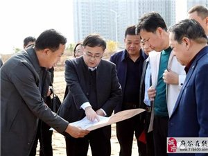 雷江声调研新府山保障性住房项目与公共配套设施建设工作