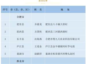"""公示!桐城1人拟评为""""安徽省百佳新型职业农民"""""""