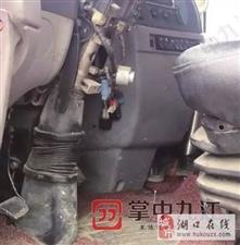 湖口一车主的后八轮超载被扣,依法取车时发现车锁被撬!