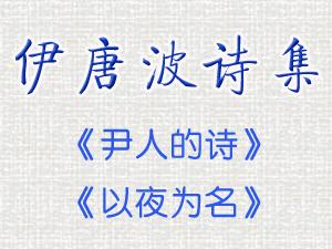 【绿野书院文集】伊唐波和他的诗集《以夜为名》《尹人的诗》