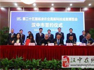 喜大普奔!第二十五届杨凌农高会开幕第一天,洋县签约3.5亿