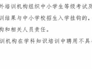 桐城开展校外培训机构集中整治通知!