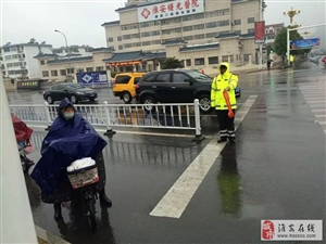 风雨中,淮安区的另类风景...