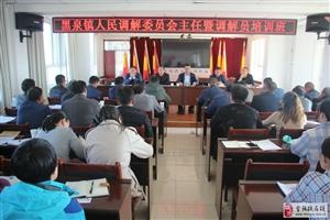 高台县黑泉镇开展调解员培训 助力镇村人民调解工作新发展