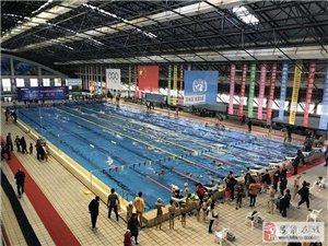 今明两天,吕梁市体育馆举行大型游泳比赛