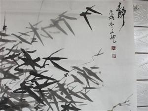 张家川四位书画家在蜜语茶言受围观