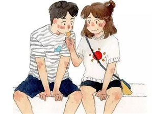 恋爱其实就是这么简单,遇见对的人。一组很火的漫画。。。