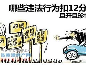 最全道路交通安全违法行为记分分值,请收藏!
