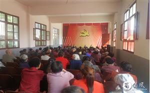 苍溪县岳东镇开展反邪教宣传工作