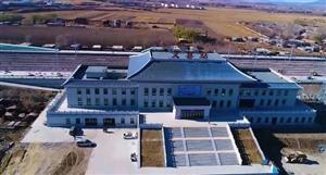 俯瞰正在建设中的义县新火车站