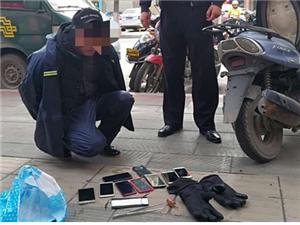 荆门公安抓获一名外籍流窜扒窃嫌疑人破获扒窃案件八起