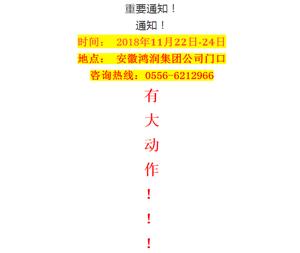 最新!桐城鸿润集团重要通知!