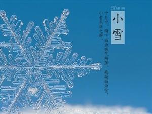 今日,小雪