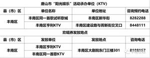 丰南中老年可免费唱KTV,地点联系方式公布