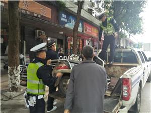 治理车辆违法行为维护市容整洁面貌
