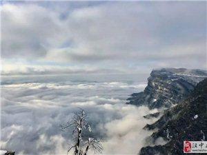 汉中龙头山雪景,美!