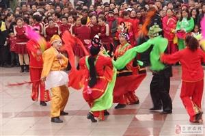 离石世纪广场举行大型秧歌展演活动(图)