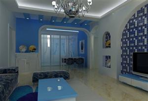 珠海装修全包,将餐厅与客厅合并,用沙发充当部分餐椅。