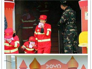 """来凤清外博雅幼儿园举行""""娃娃兵大型消防安全教育""""烈火英雄""""活动"""""""