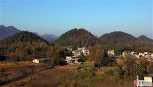 美丽诱人的冬季乡村景色