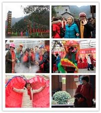 鸭子口乡楠木坪村:清江生态黑猪年猪宴吸引八方游客