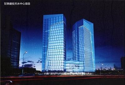 天水首个130米超高层建筑又有新进展