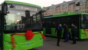 离石新增乡镇公交车,今日起上路试运营