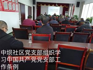 中坝社区党员会议-学习中国共产党党支部工作条例