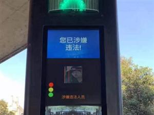 """河南首套行人�J�t�糁腔劬�示系�y亮相""""紫�G山"""""""