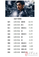 汉中南部有小雪或雨夹雪