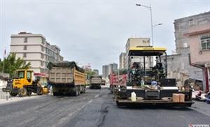 好消息,河婆北环一路(即过境公路)已经开始铺设柏油路面了