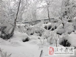 汉江源头现冰雪奇观