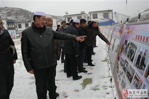 张家川县庆祝改革开放40周年成就展走进胡川镇巡展受好评