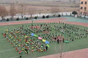黑池镇中心小学迎接市级九类示范校创建评估验收