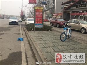 素质低,汉中一共享单车被毁坏!