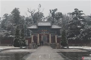 """2019小雪后的孟庙""""棂星门"""""""