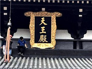 误入儋州兰洋莲花寺,偶遇天王殿上匾,听说年三十就开放了!