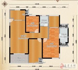 南京澜山花园简美混搭装修,126平的三室房