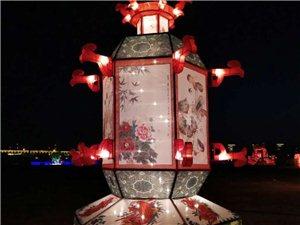 建平湿地公园的花灯亮了!