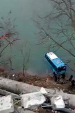 突发!汉中宁强一辆公交车坠江