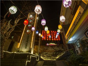 溪仔街的红灯笼(黎伟宇摄影)