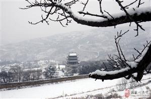 正月十三,大雪纷飞的宣化冈如水墨画,油香香滴的很
