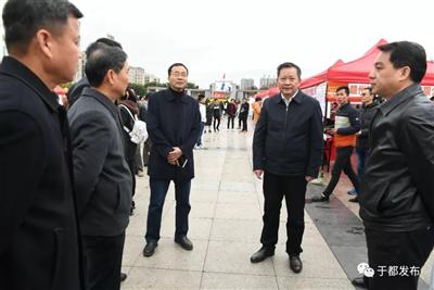 新春首场金沙平台招聘会场面火爆!县四套班子主要领导到现场指导